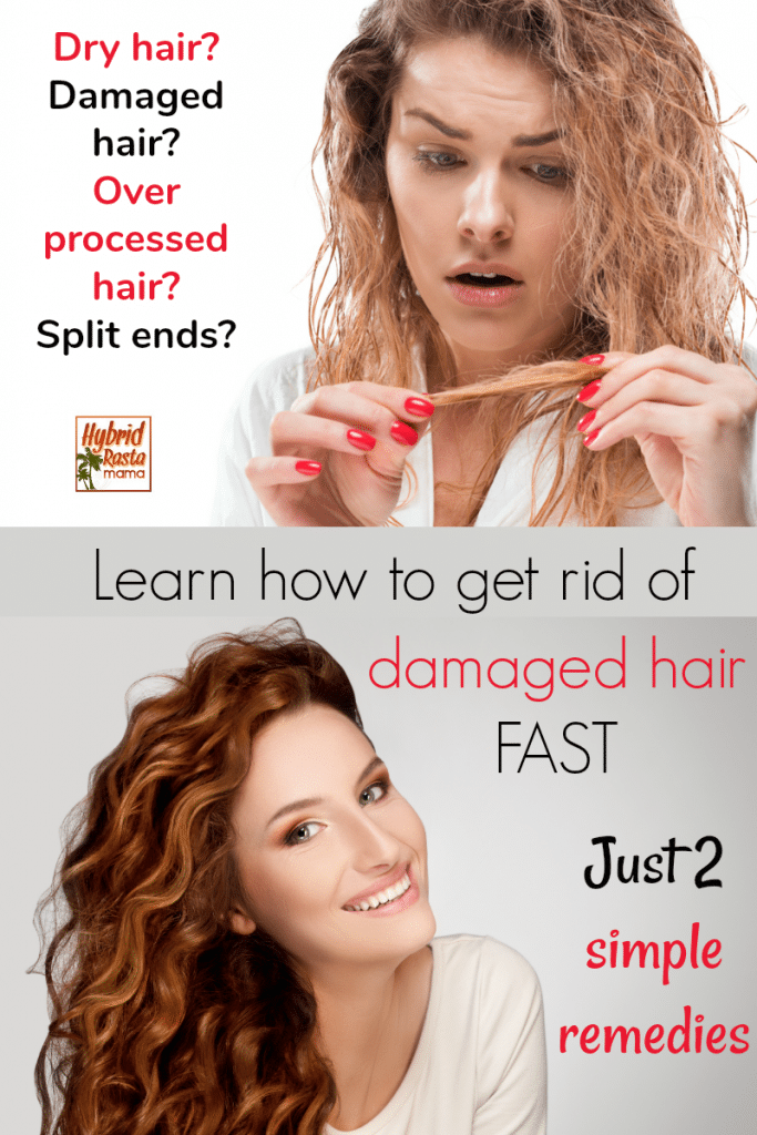 A woman with splits ends. How to get rid of damaged hair.