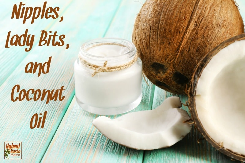 Do you have cracked and bleeding breastfeeding nipples? Post baby vaginal dryness? Learn how coconut oil saves the day and grab this love potion recipe too! From HybridRastaMama.com