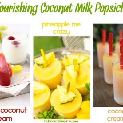 Coconut Milk Popsicles – 3 Recipes