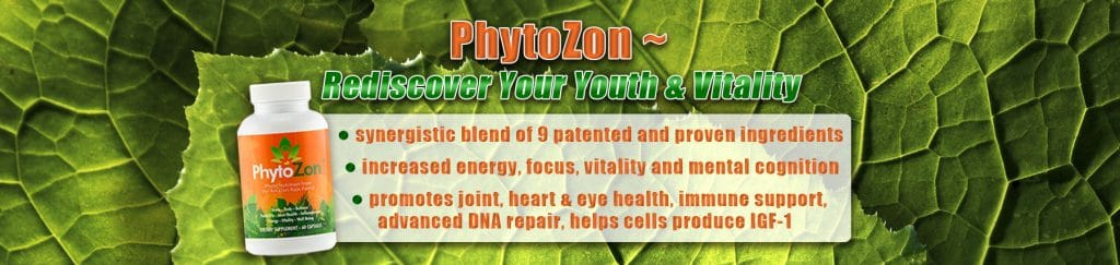 Bottle of Phytozon with product description