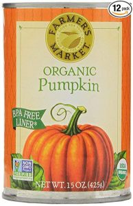 Can of organic pumpkin to use as an egg replacer