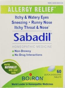 Natural allergy relief - sabadil