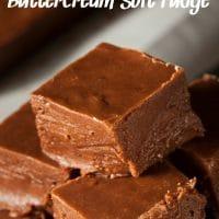 Salted Chocolate Buttercream Soft Fudge