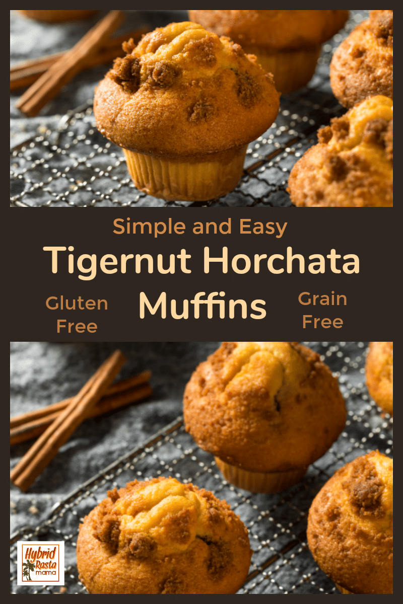 Tigernut horchata muffins on a baking rack cooling