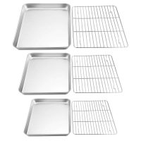 Stainless Steel Baking Sheet and Wire Cooling Rack Set