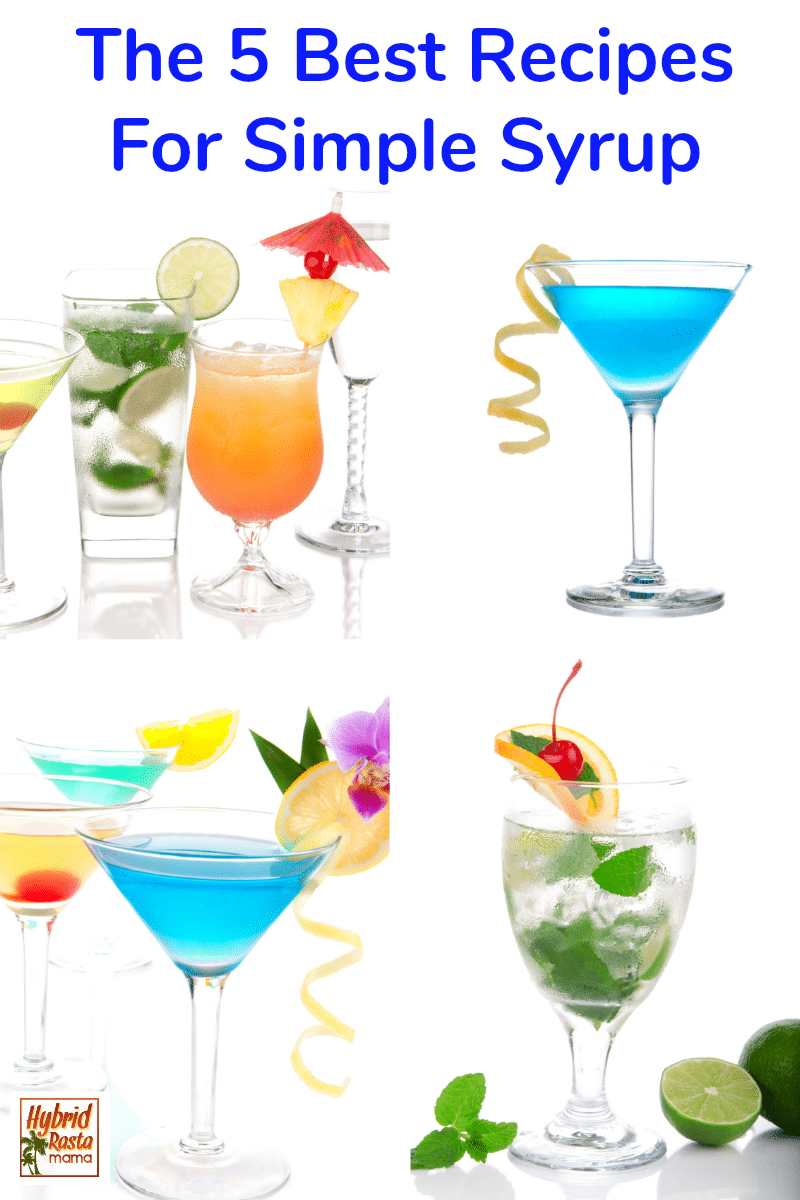 Various cocktails with healthier simple syrups