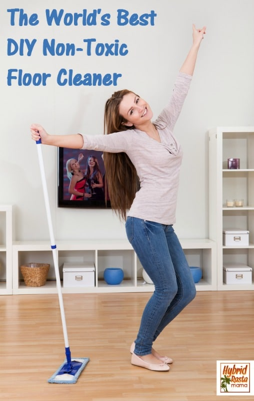 Looking for the best non-toxic floor cleaner? Check out this incredibly easy-to-make and cost effective floor cleaner recipe. It is safe for all floors and cleans other surfaces too. Created by HybridRastaMama.com