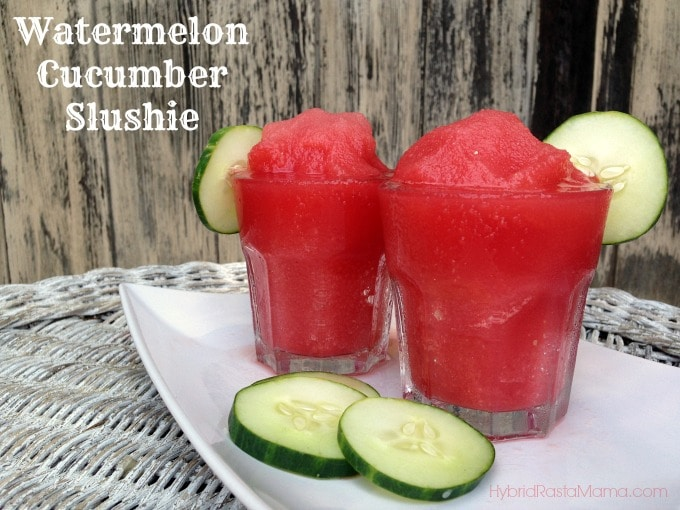 Watermelon Cucumber Slushies from Hybridrastamama.com