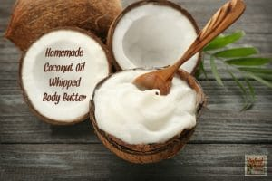 Coconut oil makes the best body butter. Whip it and you have something so luxurious it is indescribable. Grab this coconut oil whipped body butter recipe from HybridRastaMama.com.