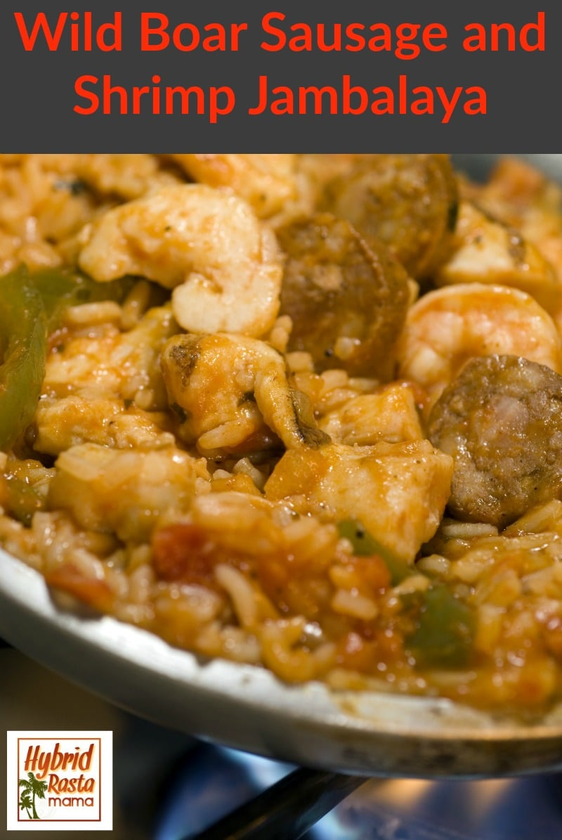 Wild Boar Sausage and Shrimp Jambalaya